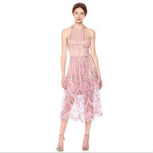 Dress the Population Valerie Halter Lace Midi Dres